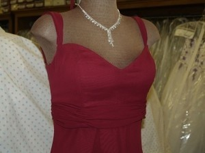 Jordan Fashions Merlot Jordan Merlot Size: 4 #323 Sweetheart Neck Line Thick Straps A Line Floor Length Dress