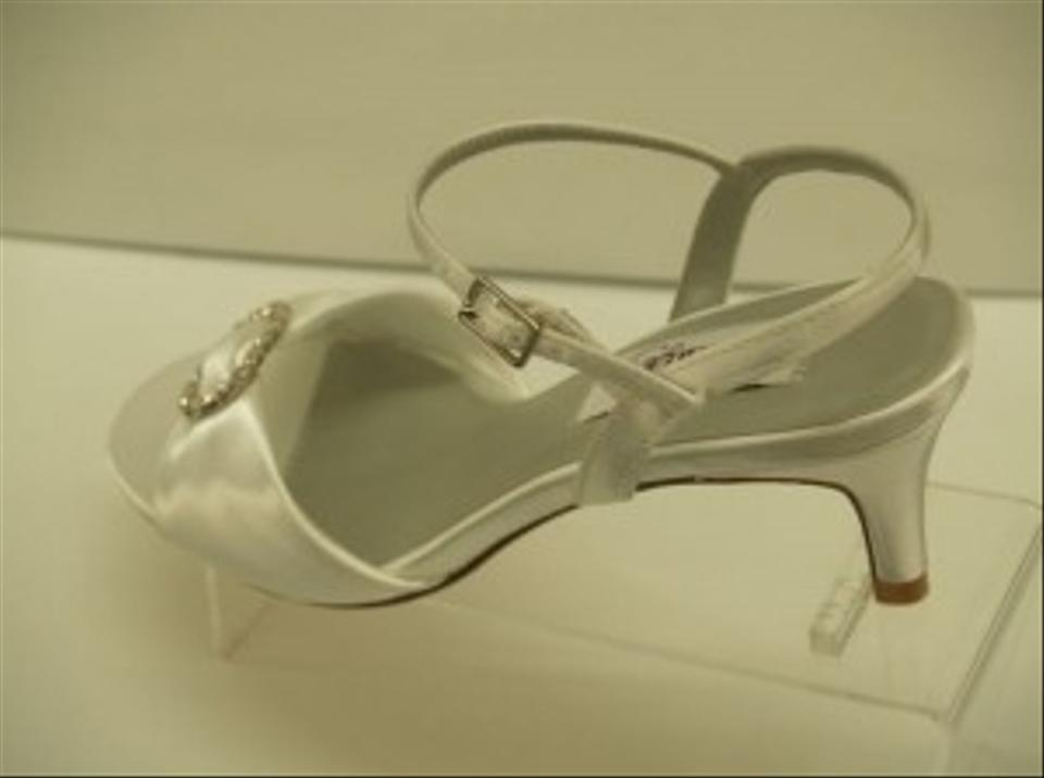 White Toe Rhinestones Charming Formal Open Sandals Comfortable Dyeables Satin Buckles Crystals 0OTdxn0tqw
