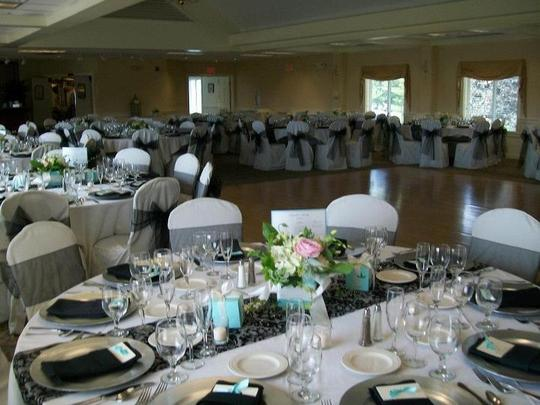Black Organza Chair Sashes Reception Decoration