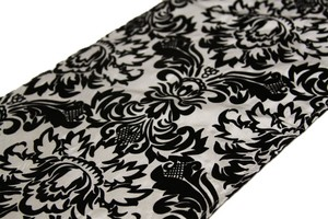 Other Flocking Taffeta Damask Table Runners Reception Decoration