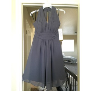Bill Levkoff Pewter Grey Dress
