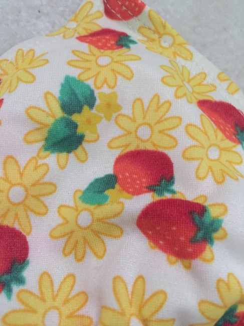 Other Yellow String Bikini with Strawberry and Daisy print