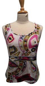 Emilio Pucci Crisscross Strap Fuschia, Yellow, Blue, Green, White, Black Halter Top