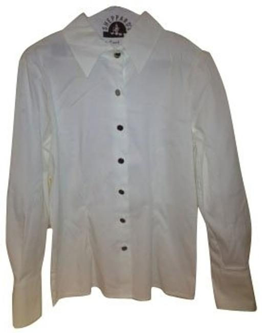 Preload https://item2.tradesy.com/images/tory-burch-white-button-down-top-size-8-m-481-0-0.jpg?width=400&height=650