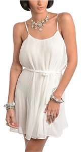 Buy in America short dress Ivory on Tradesy