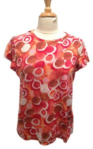 Simply Vera Vera Wang T Shirt Red, Brown Orange, Pink