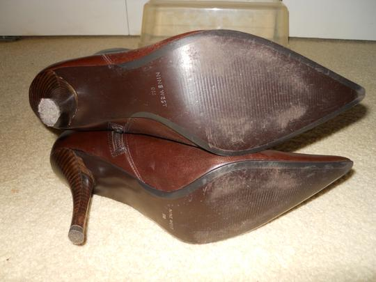 Nine West Leather dk brown Boots
