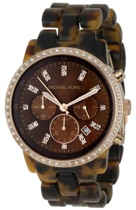 Michael Kors Michael Kors Showstopper MK5366 Tortoise Shell Chronograph Womens Watch