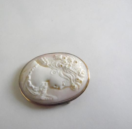 AMEDEO M&M Scognamiglio 14kt Pink Conch Shell Cameo Pin/Pendant