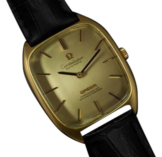 Omega 1974 Omega Constellation Chronometer Vintage Mens Watch - 18K Gold Plated & Stainless Steel