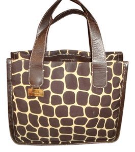 Kate Spade Giraffe Print Satchel in brown