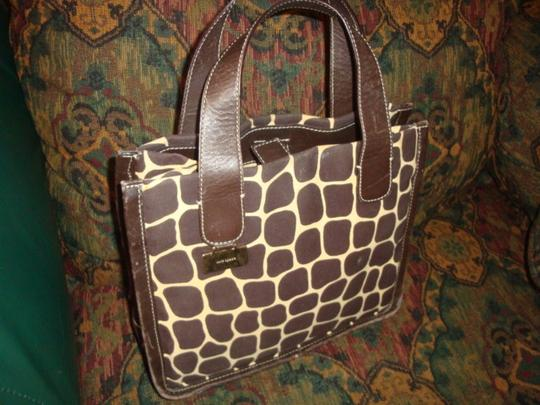Kate Spade Giraffe Print Leather Satchel in brown