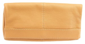Michael Kors Hutton Leather Tan Clutch
