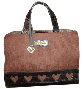 Brighton Leather Heart Satchel in brown