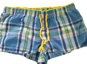 Faded Glory Mini/Short Shorts Blue, Yellow, and Green