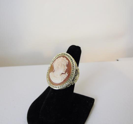 "AMEDEO AMEDEO NYC ""Vanitas"" Enamel Cameo Ring Size 8"