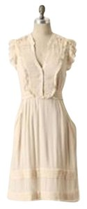 Anthropologie short dress cream Shirt Fit And Flare Country Wedding on Tradesy