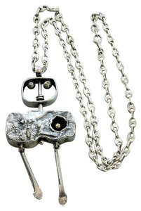 Walter Schluep Striking Walter Schluep Cubist Style Swivel Sterling Silver Pendant Necklace