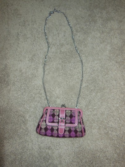Isabella Fiore Clutch Wool Leather Trimmed Cross Body Bag