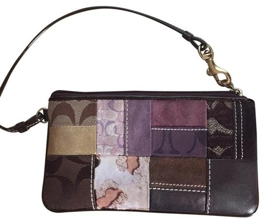 Coach Wristlet in Brown Multi