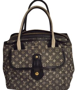 Louis Vuitton Satchel in Navy And Ivory