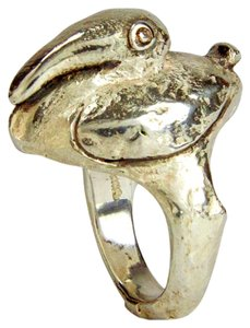 Walter Schluep Walter Schluep Figural Pelican Sterling Silver Pearl Ring