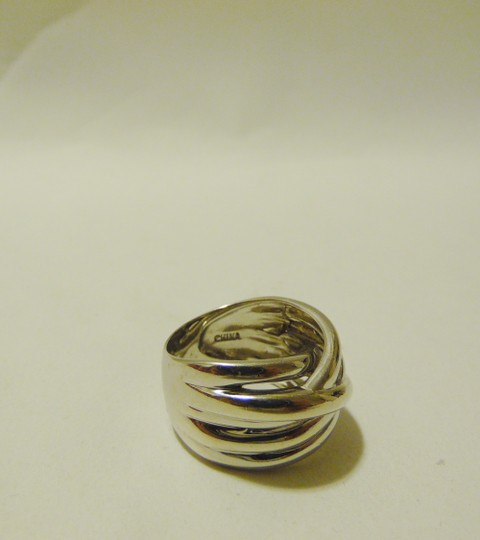Other Silver Style Overlapping .925 Sterling Silver Band Ring