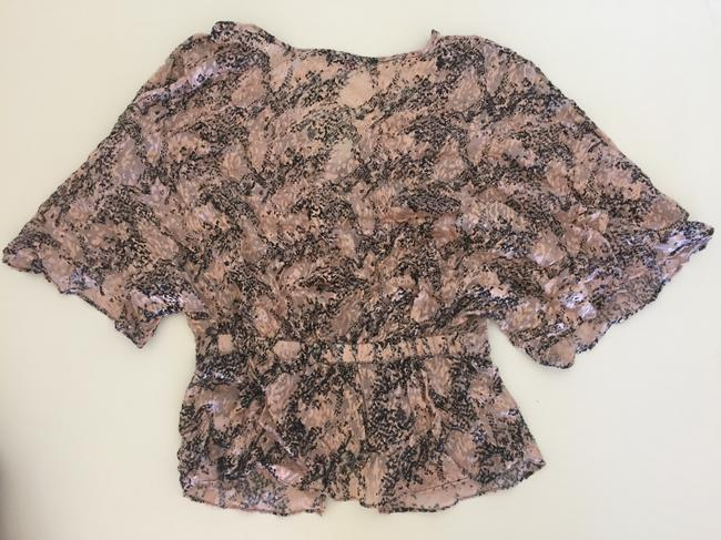 Parker Silk Top Blush and Black