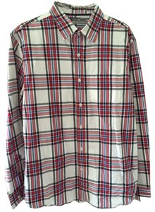 Old Navy Men's Large Button Down Shirt red,blue, white, black