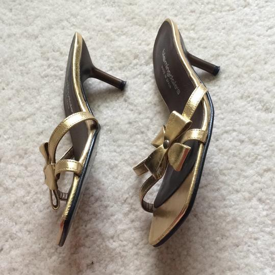 Bloomingdale's Gold Sandals