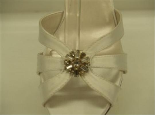 Special Occasions by Saugus Shoe White Robin 4130 Open Toe Sandals Strappy Crystals Bling Small Heel Size US 6.5 Regular (M, B)