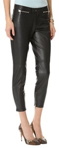 Robert Rodriguez Leather Fall Transition Skinny Pants Navy