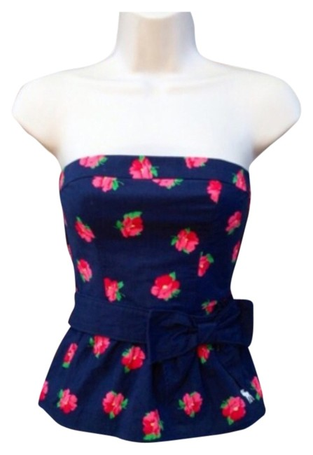 Abercrombie & Fitch Top Floral navy