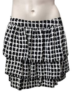 Alice + Olivia Mini Skirt Black and White