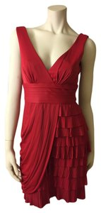 BCBGMAXAZRIA Ruffles Red Bcbg Sexy Dress