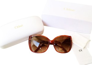 Chloé Authentic Brand New in Box Chloe Square Brown Sunglasses y