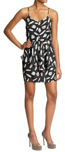 Greylin short dress Black Peplum Print Festival Strappy on Tradesy