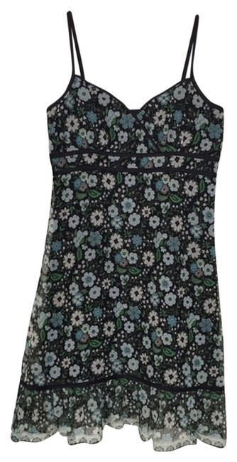 Antonio Melani short dress Black background with floral pattern on Tradesy