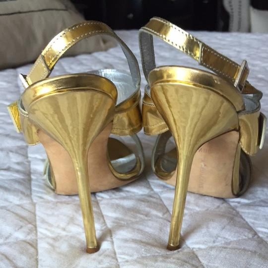 Manolo Blahnik Gold and silver Sandals