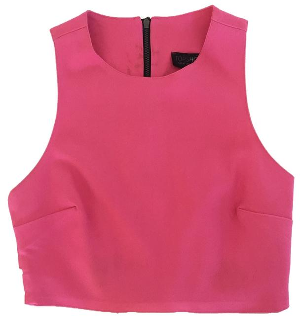 Topshop Cut-out Top Pink