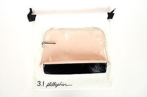 3.1 Phillip Lim 3.1 Phillip Lim Blush White Leather Minute Cosmetic Bag Ar12-0338crp