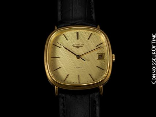 Longines Longines Mens Full Size Dress Watch with Date - 18K Gold Plated & Stainless Steel