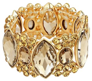 Other Marquise Crystal Rhinestone and Topaz Stretchable Bracelet