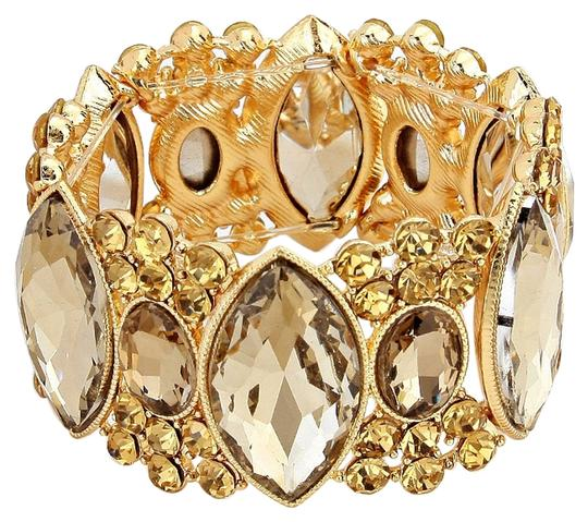 Preload https://item5.tradesy.com/images/topaz-and-gold-marquise-crystal-rhinestone-stretchable-bracelet-4816864-0-0.jpg?width=440&height=440