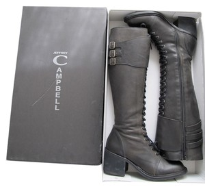 Jeffrey Campbell Leather Laceup charcoal black Boots