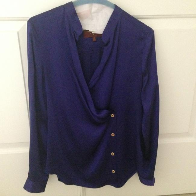 7 For All Mankind Silk Chic Night Out Top Royal blue
