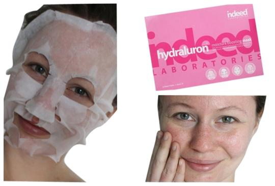 Indeed Laboratories NEW Indeed Labs HYDRALURON Moisture Booster FACE MASK 4 Serum Masks