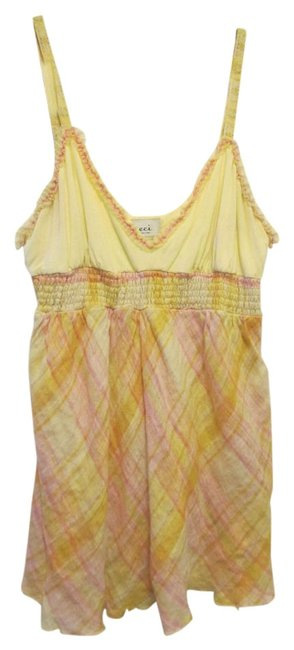 Preload https://img-static.tradesy.com/item/4817233/eci-new-york-yellow-and-pink-summer-xl-tank-topcami-size-16-xl-plus-0x-0-0-650-650.jpg