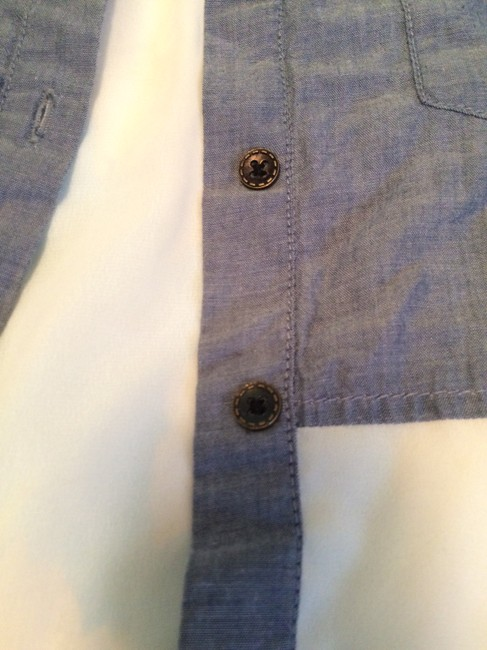 Other Sheer Pocket Pocketed Flowy Cool Button Down Shirt Denim