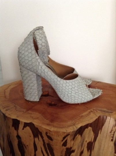 3.1 Phillip Lim Chunky Heel Ankle Strap Ice blue Sandals